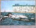 Venus's bathing, a woman swimming in the sea at Margate. Wellcome L0017752.jpg