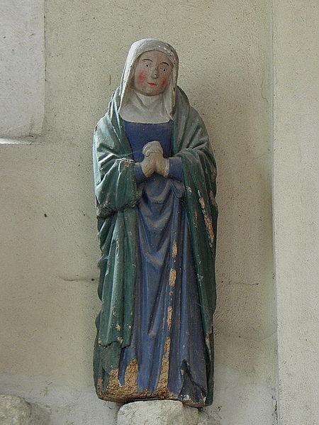 Église Saint-Rémi de Verneuil (51). Vierge de Crucifixion.