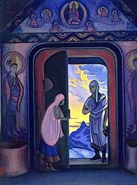 «Вестник»Николай Константинович Рерих (картина посвящена Е. П. Блаватской)