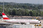 Vienna Int'l Airport, Airbus A320 Austrian Airlines (Retro livery).jpg