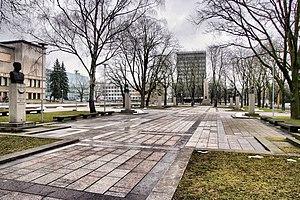 Centras (Kaunas) - Vienybės aikštė in the New Town