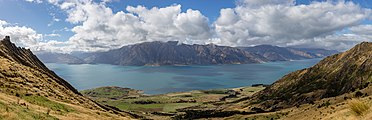 View from Isthmus Peak Trail to Lake Hawea, New Zealand.jpg