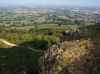 Leckhampton Hill and Charlton Kings Common - Image: View from Leckhampton Hill geograph.org.uk 976826