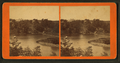 View of a river with boats, trees, and a house, by M. E. Beckwith & Son.png