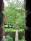 foto van Huis te Heenvliet (met Kasteel Ravesteyn): historische tuinaanleg