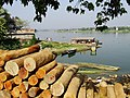 View over Piled Lumber by Kaptai Lake (13240386965).jpg
