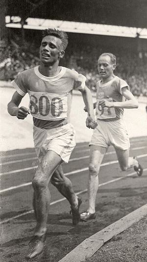 Ville Ritola - Ritola leads Nurmi in the 1928 Olympic 10000 m race