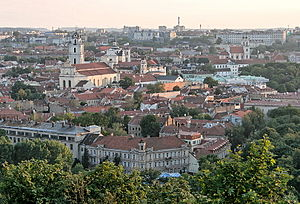 Three Crosses - Vilnius Old Town as seen from the top of the hill
