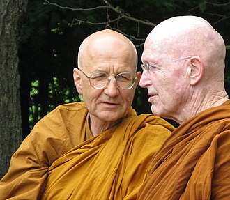 Ajahn Viradhammo - Pictured (left) with a Luang Por Sumedho at Tisarna Monastery in May 2010