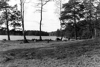 Virserum - Image: Virserumsjön, våren 1991