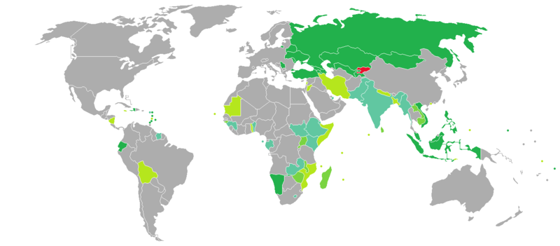 Visa requirements for Kyrgyzstani citizens - Wikipedia on japan world map, philippines world map, china world map, tanzania world map, rwanda world map, croatia world map, namibia world map, senegal world map, congo world map, portugal world map, benin world map, united kingdom world map, bosnia and herzegovina world map, ethiopia world map, vanuatu world map, australia world map, belgium world map, india world map, niger world map, nauru world map,