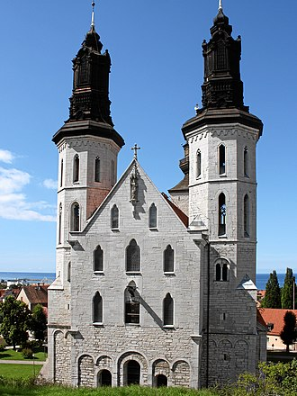 Visby Cathedral - View of the cathedral from the east