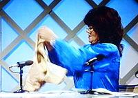 Anna Sundqvist i TV-programmet Ævl 1986