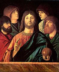Salvator Mundi with apostles