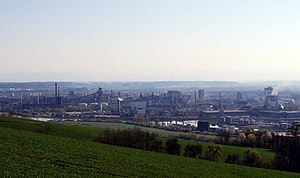 Voestalpine - Panorama of the Linz steelworks, 2009