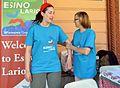 Volontari di Wikimwdia Italia alla stazione di Varenna.jpg