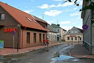 Jurbarkas - Image: Vytauto gatve