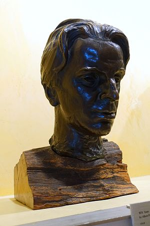 Albert Power (sculptor) - Bust of W. B. Yeats by Power (1918) Displayed in the Harry Ransom Center, University of Texas at Austin, USA.