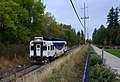 WES Commuter Rail car 1003 southbound just north of Tualatin, 2015.jpg