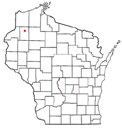 Location of Gull Lake, Wisconsin