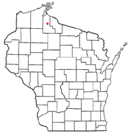 Location of Mellen, Wisconsin