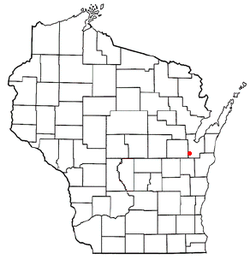 Location of Wrightstown, Wisconsin