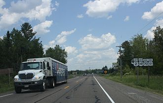 Wisconsin Highway 70 - East terminus in Florence