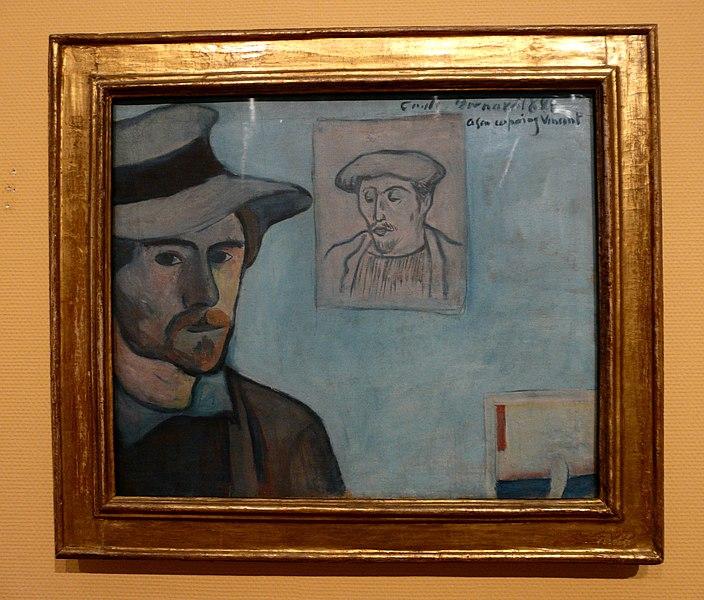 File:WLANL - jankie - Zelfportret met portret van Gauguin, Emile Bernard (1888).jpg