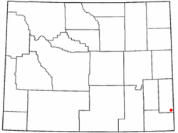 Location of La Grange, Wyoming