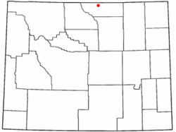 Location of Ranchester, Wyoming