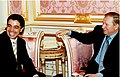 Walid Harfouch with Leonid Kuchma, 1997.jpg