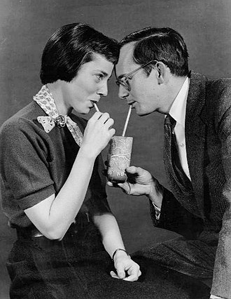 Mister Peepers - Wally Cox and Patricia Benoit, 1954.