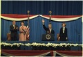 Walter Mondale, Joan Mondale, Jimmy Carter and Rosalynn Carter at the Democratic Mid-Term Convention. - NARA - 182686.tif