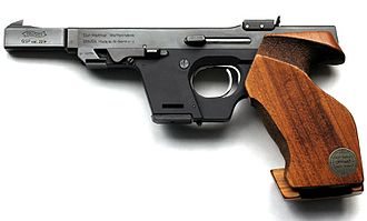 Walther GSP - A Walther GSP Junior commemorating the 100th Anniversary of Carl Walther Waffenfabrik in 1986.