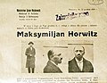 Wanted poster for Maksymilian Horwitz 1920.jpg