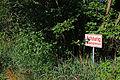 Warnschild an der Österreich-Tschechischen Grenze in Gmünd.jpg