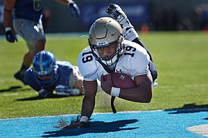 Navy Midshipmen football statistical leaders - Keenan Reynolds holds the NCAA record for rushing touchdowns, in addition to holding Navy's career records for rushing yards, rushing touchdowns, passing touchdowns, total offense yards, and total touchdowns.