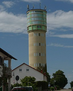 water tower in Großniedesheim, Germany