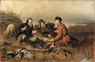 Vasily Perov - The Hunters at Rest