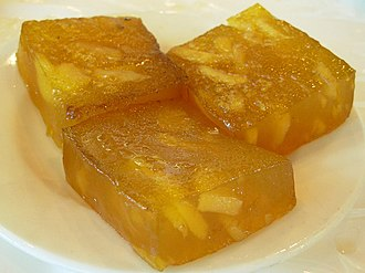 Chinese desserts - Image: Waterchestnutcake