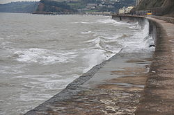 Waves breaking on the sea wall at Teignmouth (0161).jpg