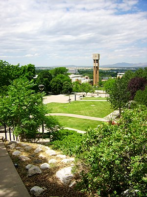 Weber State University - View of Weber State University campus from Ogden's east bench.