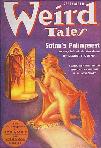 Weird Tales - One of Margaret Brundage's nude covers.  This one is for the September 1937 issue.