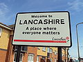 Welcome to Lancashire sign, A587 - DSC06525.JPG