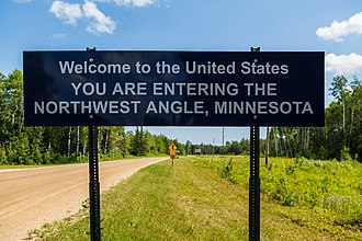 Northwest Angle - Border crossing at the Angle