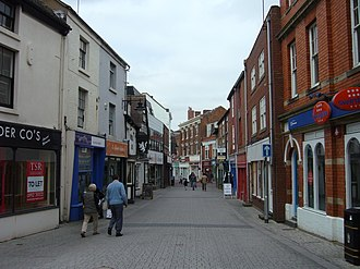 Wellington, Shropshire - Another street view of the pedestrianised centre of Wellington