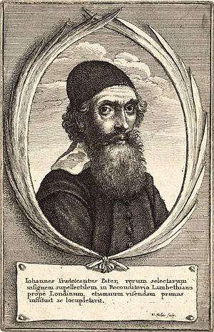 John Tradescant the Elder - Engraving of John Tradescant the Elder by Wenceslas Hollar
