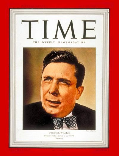 Wendell L. Willkie on the cover of TIME Magazine, July 31, 1939