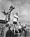 Wereldkampioenschappen wielrennen te Luik. Huldiging sprint, v.l.n.r. Van Vliet, Bestanddeelnr 908-8529.jpg