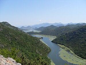 Lake Skadar - Image: Westlicher Teil des Skutarisee